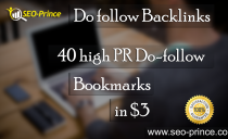 Do follow Backlinks 40 Bookmarks